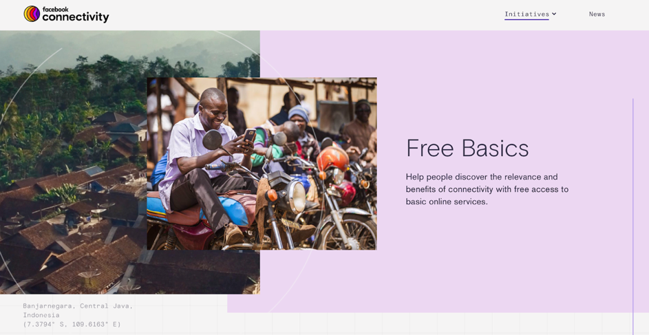 Free Basics Initiative by Facebook. Screenshot. Source: Facebook Connectivity